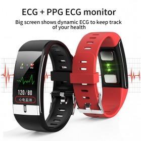 SKMEI Smartwatch Bracelet Sport Tracker Blood Pressure Heart Rate Thermometer - E66 - Black - 5