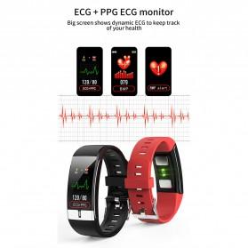 SKMEI Smartwatch Bracelet Sport Tracker Blood Pressure Heart Rate Thermometer - E66 - Black - 7