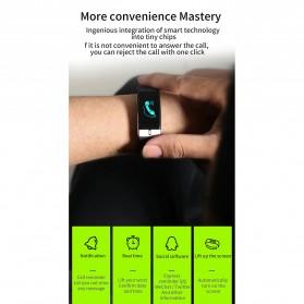 SKMEI Smartwatch Bracelet Sport Tracker Blood Pressure Heart Rate Thermometer - E66 - Black - 9