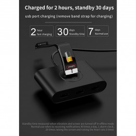 SKMEI Smartwatch Bracelet Sport Tracker Blood Pressure Heart Rate Thermometer - E66 - Black - 10