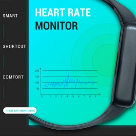 SKMEI Smartwatch Sport Tracker Blood Pressure Heart Rate Thermometer - SW07 - Black - 11