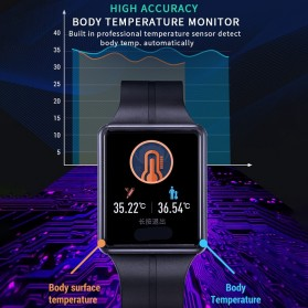SKMEI Smartwatch Sport Tracker Blood Pressure Heart Rate Thermometer - SW07 - Black - 3