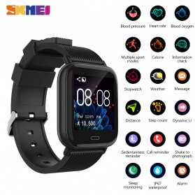 SKMEI Smartwatch Jam Tangan Pintar Heartrate Blood Pressure Monitor - G20 - Black