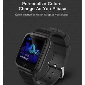 SKMEI Smartwatch Jam Tangan Pintar Heartrate Blood Pressure Monitor - G20 - Black - 5