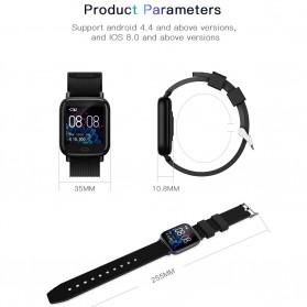 SKMEI Smartwatch Jam Tangan Pintar Heartrate Blood Pressure Monitor - G20 - Black - 6