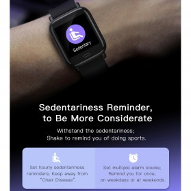 SKMEI Smartwatch Jam Tangan Pintar Heartrate Blood Pressure Monitor - G20 - Black - 7