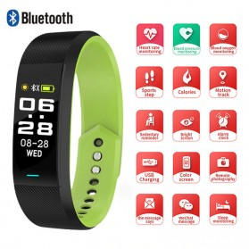 SKMEI Smartwatch Sport Tracker Blood Pressure Heart Rate - B25 - Black