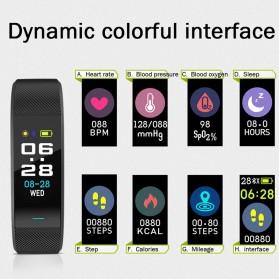 SKMEI Smartwatch Sport Tracker Blood Pressure Heart Rate - B25 - Black - 5