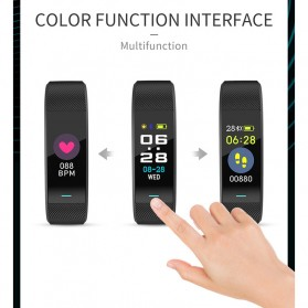 SKMEI Smartwatch Sport Tracker Blood Pressure Heart Rate - B25 - Black - 7