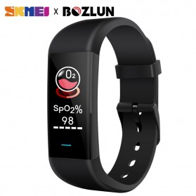 SKMEI Medical Smartwatch Jam Tangan Pintar Heartrate Blood Pressure Monitor - P9 - Black