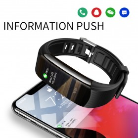SKMEI Smartwatch Sport Waterproof Heart Rate Thermometer for Android iOS - C6T - Black - 2