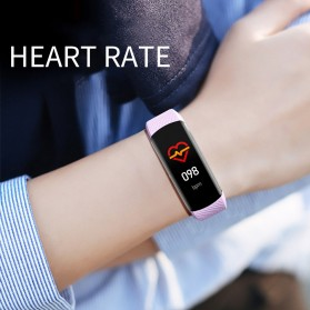 SKMEI Smartwatch Sport Waterproof Heart Rate Thermometer for Android iOS - C6T - Black - 5
