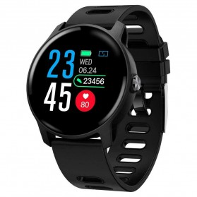 SKMEI Smartwatch Jam Tangan LED Bluetooth Heartrate Monitor - Q68 - Black