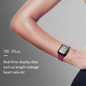 SKMEI Smartwatch Sport Tracker Bluetooth Heart Rate - 116 PLUS - Black - 3