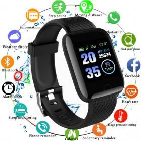 SKMEI Smartwatch Sport Tracker Bluetooth Heart Rate - 116 PLUS - Black - 5