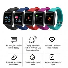 SKMEI Smartwatch Sport Tracker Bluetooth Heart Rate - 116 PLUS - Black - 6