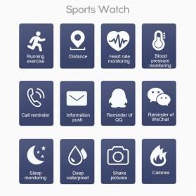 SKMEI Smartwatch Sport Tracker Bluetooth Heart Rate - 116 PLUS - Black - 7