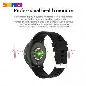 SKMEI Smartwatch Sport Tracker Blood Pressure Heart Rate - H30 - Silver Black - 6