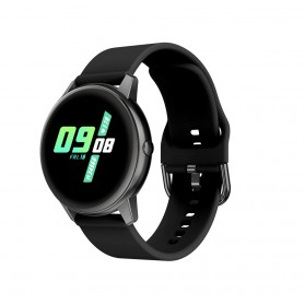 SKMEI Smartwatch Sport Tracker Blood Pressure Heart Rate - R3 - Black