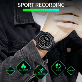 SKMEI Sport Tracker Blood Pressure Heart Rate Monitor - 1671 - Black - 3