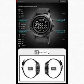 SKMEI Sport Tracker Blood Pressure Heart Rate Monitor - 1671 - Black - 8