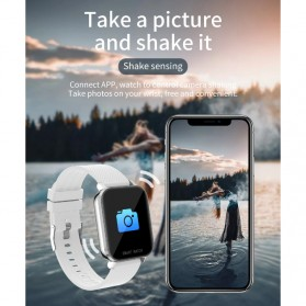 SKMEI Smartwatch Sport Fitness Tracker Heart Rate Blood Oxygen Thermometer Stainless Steel - MT28S - Silver - 14