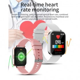 SKMEI Smartwatch Sport Fitness Tracker Heart Rate Blood Oxygen Thermometer Stainless Steel - MT28S - Black - 3