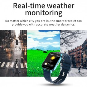 SKMEI Smartwatch Sport Fitness Tracker Heart Rate Blood Oxygen Thermometer Silicone - MT28P - Black - 12