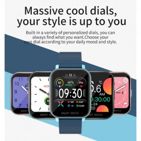 SKMEI Smartwatch Sport Fitness Tracker Heart Rate Blood Oxygen Thermometer Silicone - MT28P - Black - 13