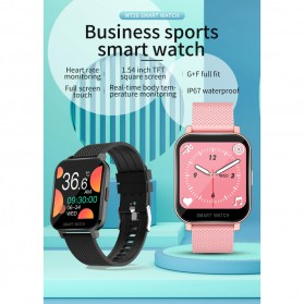 SKMEI Smartwatch Sport Fitness Tracker Heart Rate Blood Oxygen Thermometer Silicone - MT28P - Black - 2