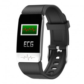 SKMEI Smartwatch Sport Fitness Tracker ECG Heart Rate - T1S - Black