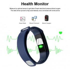 SKMEI Smartwatch Sport Fitness Tracker Heart Rate Blood Oxygen Thermometer - B6W - Black - 3
