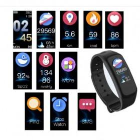 SKMEI Smartwatch Sport Fitness Tracker Heart Rate Blood Oxygen - C1 Plus - Black - 4
