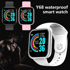 SKMEI Smartwatch Sport Fitness Tracker Heart Rate Blood Oxygen - Y68 - Black - 4