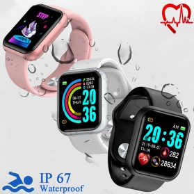 SKMEI Smartwatch Sport Fitness Tracker Heart Rate Blood Oxygen - Y68 - Black - 7