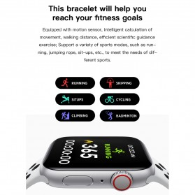 SKMEI Smartwatch Sport Fitness Tracker Heart Rate Blood Oxygen - X6 - Silver - 9