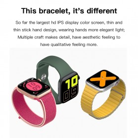 SKMEI Smartwatch Sport Fitness Tracker Heart Rate Blood Oxygen - X7 - Rose Gold - 2