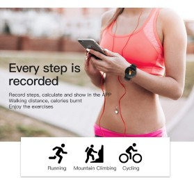 SKMEI Smartwatch Sport Fitness Tracker Heart Rate Blood Oxygen Silicone - W8 - Black - 6
