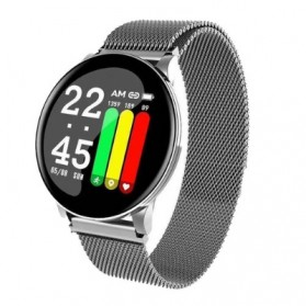 SKMEI Smartwatch Sport Fitness Tracker Heart Rate Blood Oxygen Stainless Steel - W8S - Silver - 1