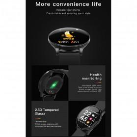 SKMEI Smartwatch Sport Fitness Tracker Heart Rate Blood Oxygen Stainless Steel - W8S - Black - 3