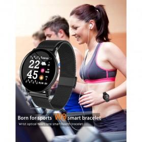 SKMEI Smartwatch Sport Fitness Tracker Heart Rate Blood Oxygen Stainless Steel - W8S - Black - 7