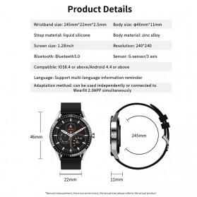 SKMEI Smartwatch Sport Fitness Tracker Heart Rate Blood Oxygen - Y20 - Silver - 4