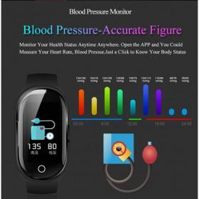 SKMEI Smartwatch Sport Fitness Tracker Heart Rate Blood Pressure with Bluetooth Earphone - M1 - Black - 3