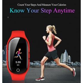 SKMEI Smartwatch Sport Fitness Tracker Heart Rate Blood Pressure with Bluetooth Earphone - M1 - Black - 4