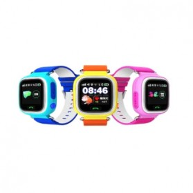 SKMEI Kids Monitoring Smartwatch LCD Screen with GPS + SOS Function - Q90 - Pink