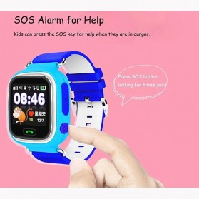 SKMEI Kids Monitoring Smartwatch LCD Screen with GPS + SOS Function - Q90 - Blue - 2