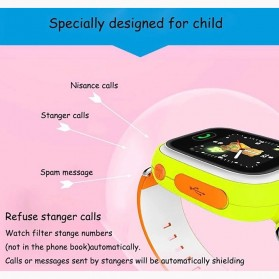 SKMEI Kids Monitoring Smartwatch LCD Screen with GPS + SOS Function - Q90 - Blue - 3