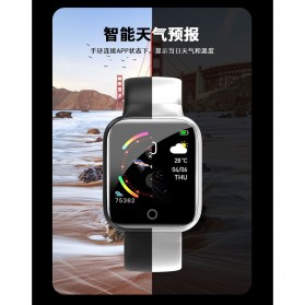 SKMEI Smartwatch Sport Fitness Tracker Heart Rate - I5 - Silver - 7