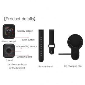 SKMEI Smartwatch Sport Fitness Tracker Heart Rate - I5 - Silver - 8