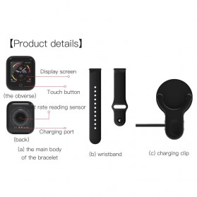 SKMEI Smartwatch Sport Fitness Tracker Heart Rate - I5 - Black - 8